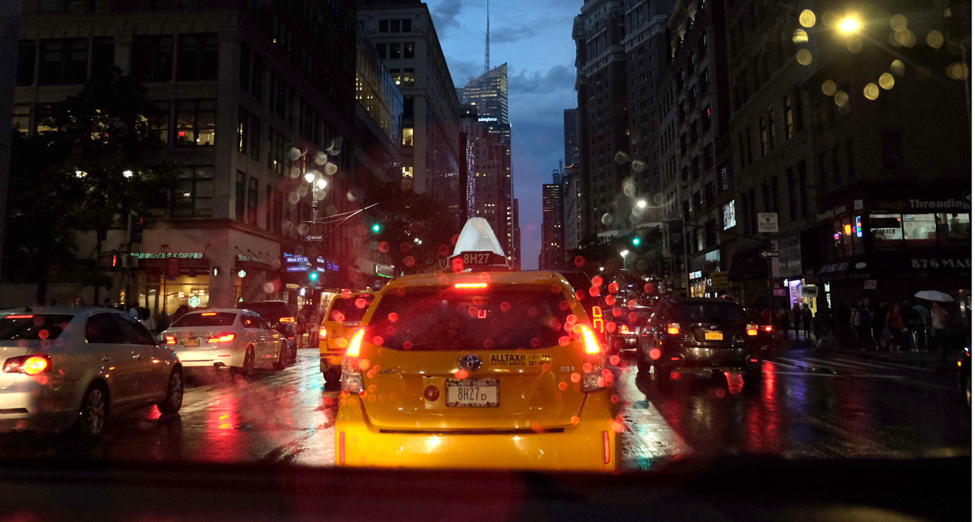 Documentary photography of a New York taxi