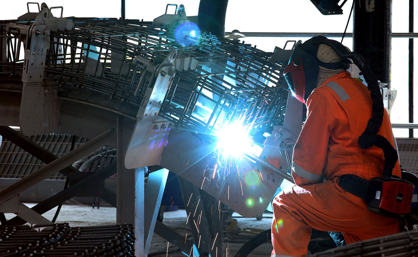 Industrial - Welding photograph for Strabag, Teesside